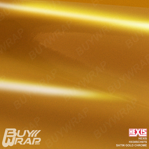 Hexis Satin Gold Super Chrome Wrap | HX30SCH07S