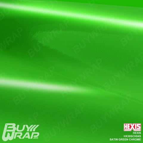 Hexis HX30SCH04S Satin Green Super Chrome car vinyl wrap film