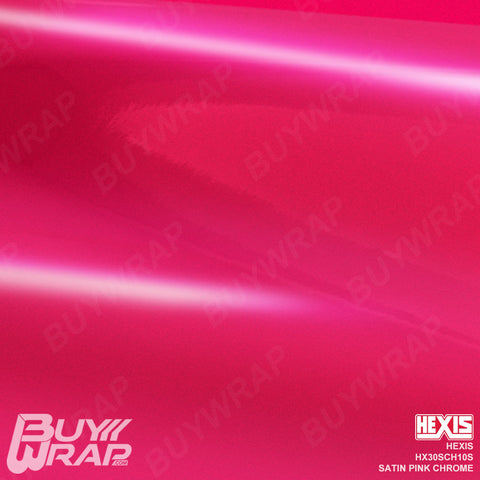hexis satin pink super chrome