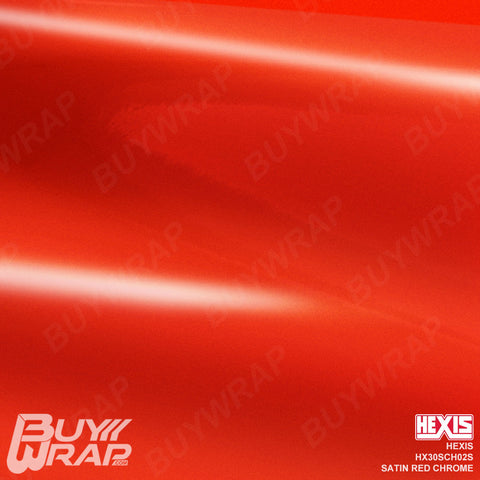 hexis satin red super chrome