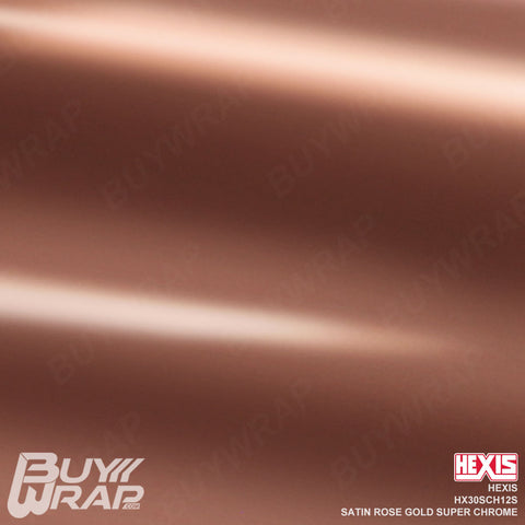hexis satin chrome rose gold