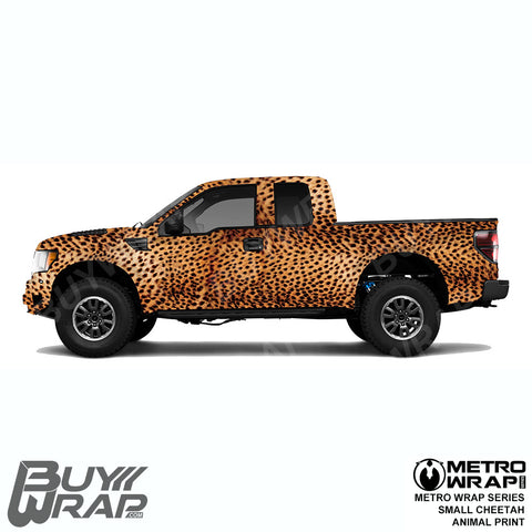 Metro Wrap Series Small Cheetah Animal Print Car Wrap Film