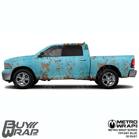 Metro Wrap Series Tiffany Blue 3D Rust Car Wrap Film