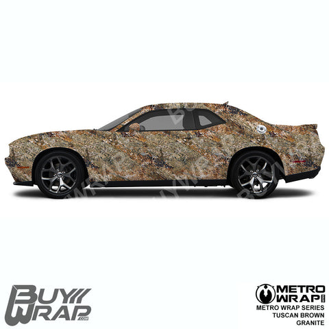 Metro Wrap Series Tuscan Brown Granite Car Wrap Film