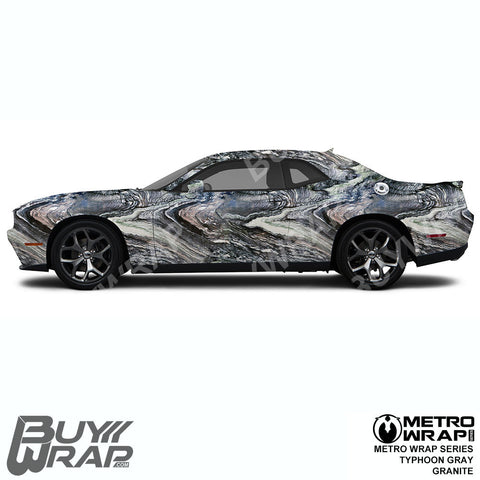 Metro Wrap Series Typhoon Gray Granite Car Wrap Film