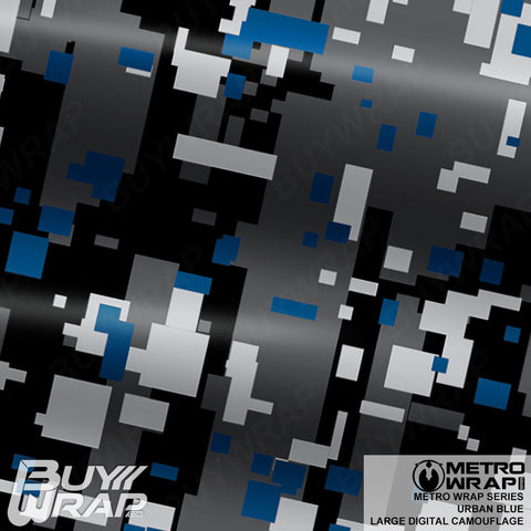 large digital urban blue camouflage