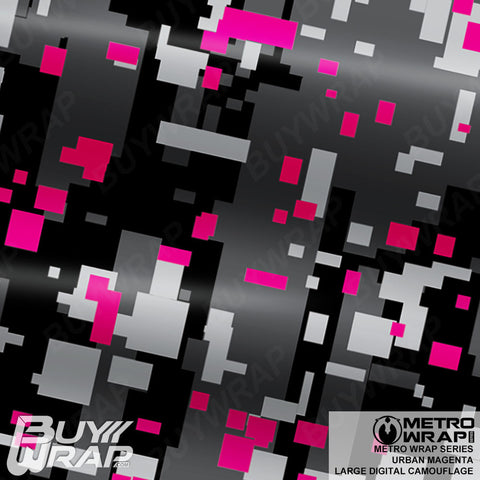 large digital urban magenta camouflage