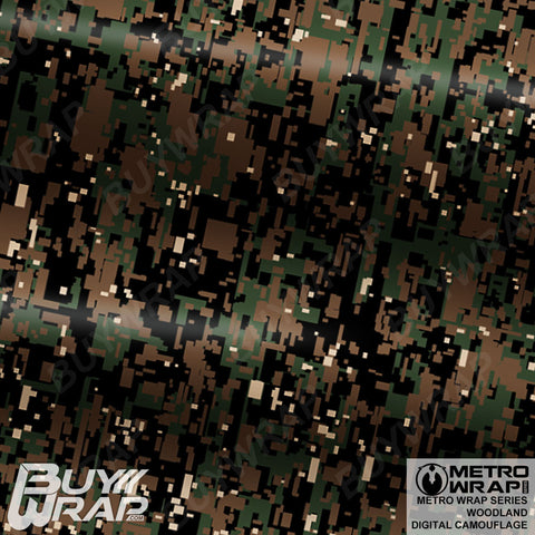 Metro Wrap Series Digital Woodland Camouflage Vehicle Vinyl Wrap Film
