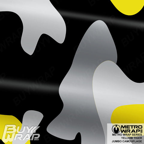 Metro Wrap Series Jumbo Yellow Tiger Camouflage Vinyl Vehicle Wrap Film