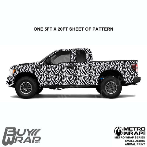 Metro Wrap Series Small Zebra Animal Print Car Wrap Film