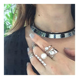Triple Band Midi Ring - Rhodium