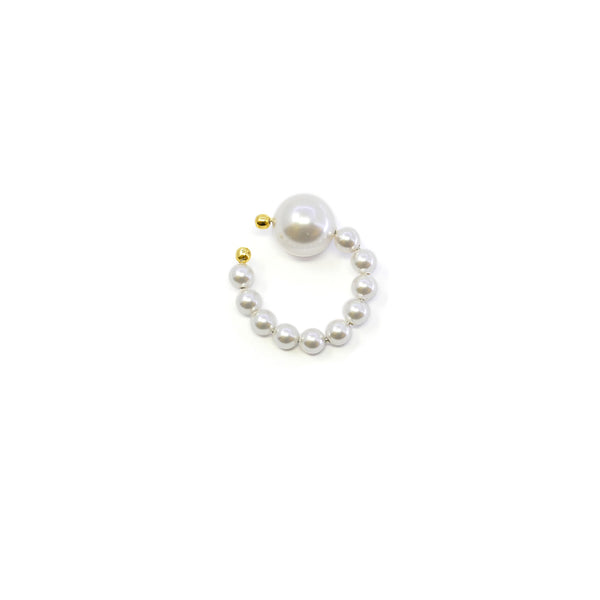 Pearl Ear Cuff - Gold/White