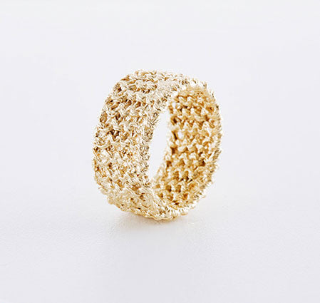 Knitted Gold ring