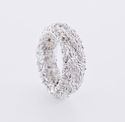 Zopfmuster Ring in Silber