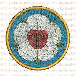 Luther Rose 500th Anniversary Religious Embroidery Design