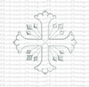 Cross Style 20 with Rays Digital Machine Embroidery Design