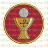 Chalice and Host Rondel Religious Machine Embroidery Design