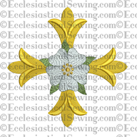 Patonce Cross Rose--Religious Machine Embroidery File