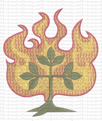 O'Adonia Burning Bush Digital Machine Embroidery Design