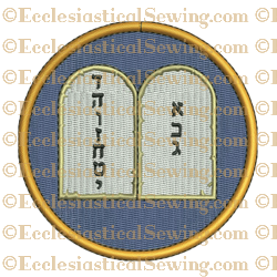 Ten Commandments--Religious Machine Embroidery File