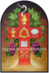 The Six Chief Parts Edward Riojas | Liturgical Art Print