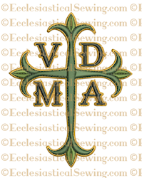 VDMA Latin Cross--Religious Machine Embroidery File