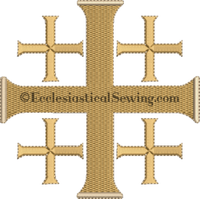 Jerusalem Cross Machine embroidery Design | Pastor Priest Altar Hanging machine embroidery designs Ecclesiastical Sewing