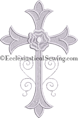 Small Altar Linen Machine Embroidery  | Linen Embroidery Design for Altar Linens Ecclesiastical Sewing