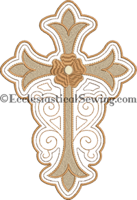 Stain Glass Cross Design altar hangings | Church altar hangin digital Machine embroidery design Ecclesiastical Sewing