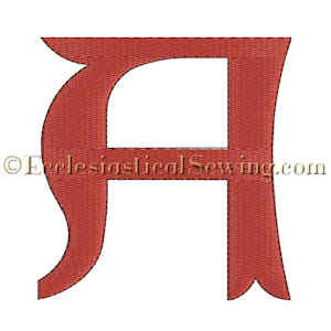 Alpha Liturgical Religious Digital Machine Embroidery File