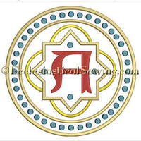 Alpha Dot Circle--Religious Machine Embroidery File