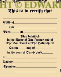 Baptismal Certificate | Liturgical Art and Gifts