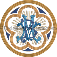Blessed Virgin Mary Blue Embroidery Design | Digital Machine Embroidery Design Religious Embroidery Design Ecclesiastical Sewing