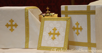 White Chalice Veil, Burse and Pall Altar Set