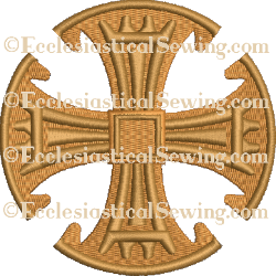 Canterbury Cross--Religious Machine Embroidery File