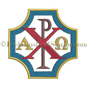 Chi Rho Alpha Omega Church Embroidery