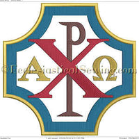 Chi Rho--Religious Machine Embroidery File
