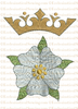 Messianic Rose & Crown--Religious Machine Embroidery File