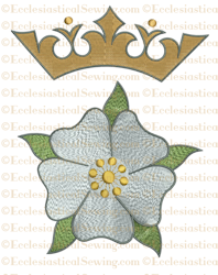 Messianic Rose & Crown--Religious Embroidery Machine File