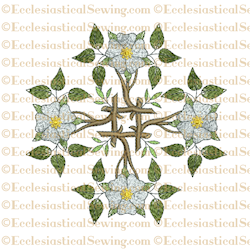 Messianic Rose - Religious Embroidery Machine File