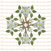 Messianic Rose--Religious Machine Embroidery File