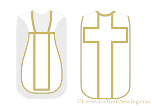 Cross Back Roman Latin Mass Chasuble Sewing Pattern