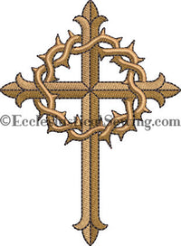 Lent Embroidery Design | Lent Cross Embroidery Ecclesiastical Sewing