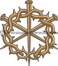 Crown Thorn Nails Digital Embroidery Design