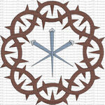 Crown of Thorns Nails Lent Design | Digital Machine Embroidery File
