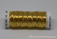 Gold Smooth Passing Thread | Goldwork Embroidery Hand Embroidery Ecclesiastical Sewing