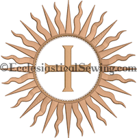 Dayspring Starburst Machine embroidery Design | Churhc Vestment Machine Embroidery Designs Easter Ecclesiastical Sewing