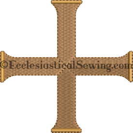 Dayspring Starburst Cross Pastor Priest Vestments |Church Vestments Digital machine Embroidery Design Ecclesiastical Sewing