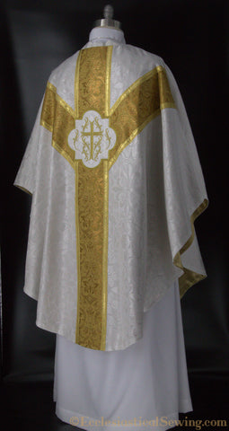 Dayspring Chasuble in White and Gold