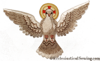 Dove Applique with Silk Embroidery - Church Vestments & Accessories